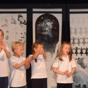 Children performing BSL