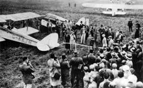 1931 All Women's meeting being opened by Mary, Duchess of Bedford in front of a Gipsy Moth
