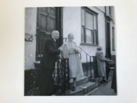 Imogen Holst with Sir Adrian Boult at the Town House in Thaxted for the unveiling of a plaque to her father Gustav on July 12th 1963