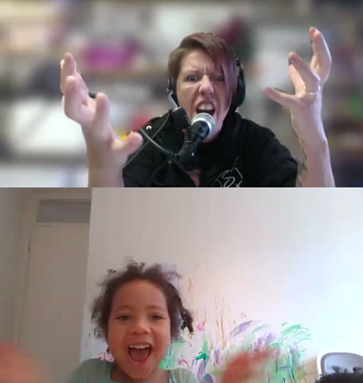 Zoom Music Workshop with kids