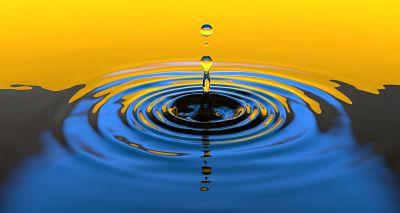 A beautiful water drop