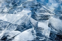 random sheets of ice