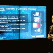 Ingrida Juraite giving a presentation