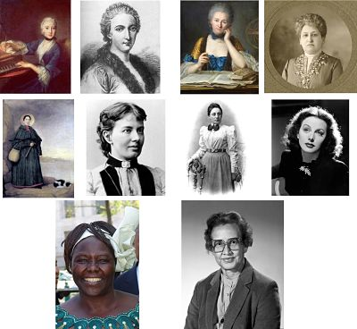 pictures of women scientists from history - you are supposed to guess which is which!