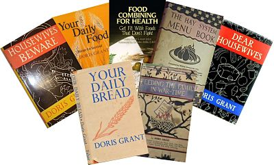 7 books about healthy eating by Doris Grant