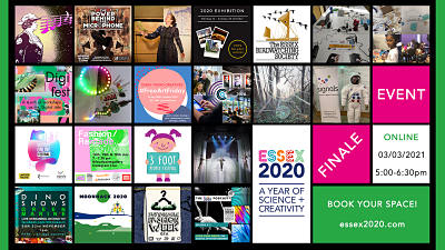 a patchwork of images from Essex 2020 events