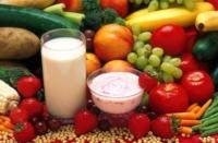 an array of health foods